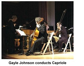 Gayle Johnson conducts Capriole